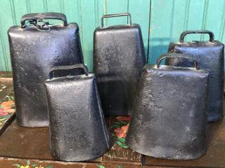 5  Vintage Cow Bells