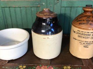 Stoneware Jug  Jar  and Crock