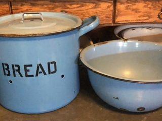 Blue Bread Pot   large Bowl