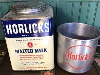 Horlicks Malted Milk Tin and Candy Holder