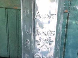 Aunt Janes Candy Treats Jar  1902