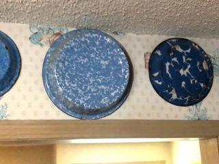 4  Enamel Graniteware Bowls