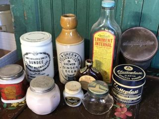 Assortment of Bottles and Tins