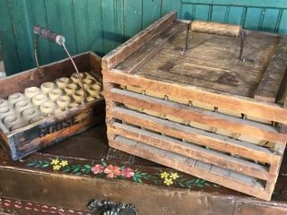 Antique Egg Crate and Egg Box