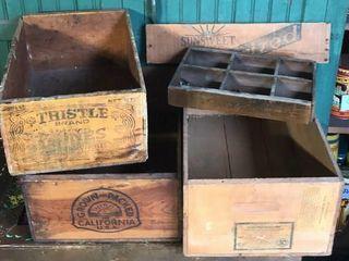 Wooden Fruit Boxes