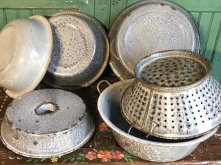 6  Pieces of Graniteware
