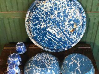 Blue   White Enamel
