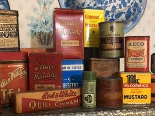 Vintage Spices and Packaging