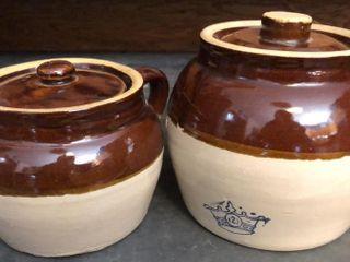 Brown Stoneware Pots