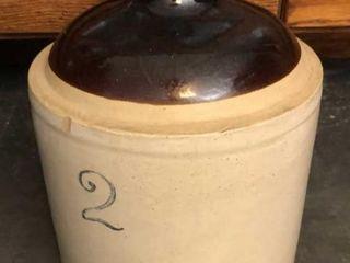 Number 2 Stoneware Jug