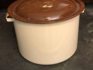 Brown Enamel Pot