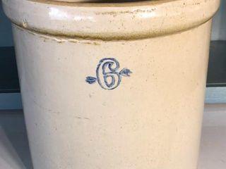 6 Stoneware Crock