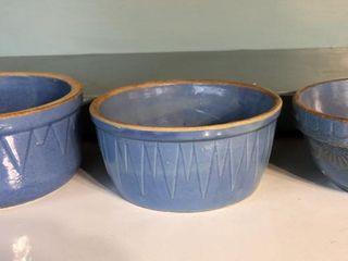 Blue Glazed Stoneware Bowls