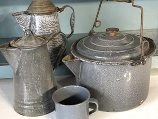 Graniteware Coffee Pots  Cook Pot and Cup