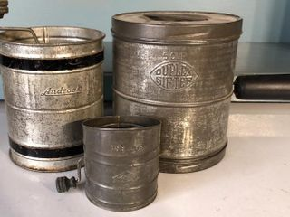 3  Antique Flour Sifters