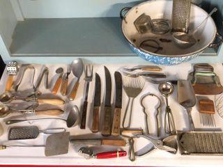 large Assortment of Kitchen Utensils