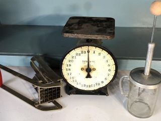 Vintage Scale  Chopper  and Fry Cutter