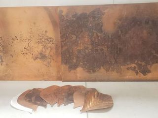 2 Heavy Duty 2 x 3 ft  Copper Sheets and Pre Cut Copper leaves