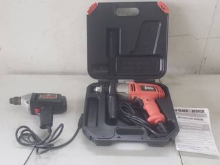 Black   Decker Electric Drill and Craftsman Electric Drill   both Work