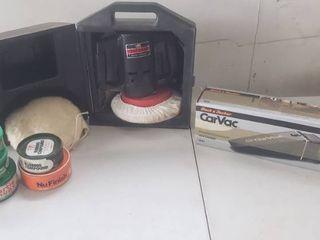 Craftsman Electric Buffer Polisher  Polishing Compounds and Black Decker Car Vac
