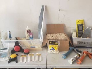 Tiling  Drywall  Wallpaper  Caulking Items 2 Totes Included