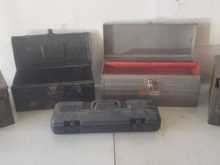 3 Tool Boxes and 2 Ammo Cans