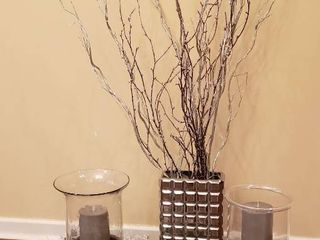 Winter   Holiday Decor w Battery Operated Candles  works