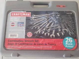 Craftsman Metric Combination Wrench Set