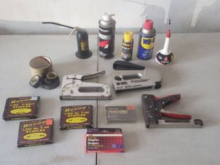 Staplers  Staples and Household lubricants