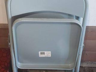 Set of 4 Slate Blue Virtue Folding Chairs