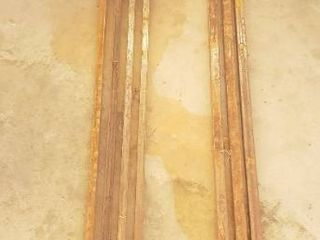 Metal Tubing   4 pcs  3 4 in  Sq  x 8 ft  and 3 pcs  1 in  sq  x 5  33 ft