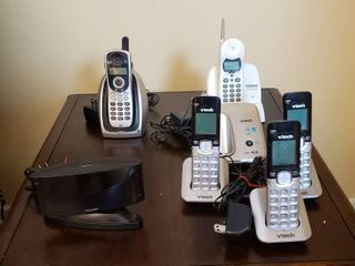 Cordless Phones and Sharp Alarm Clock   works