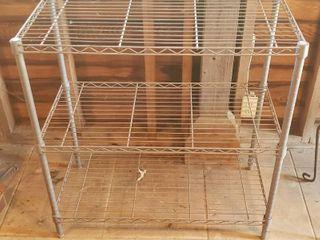 Wire Metro Shelf   3 Shelves   36 x 18 x 36 in  tall