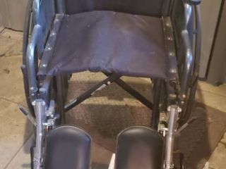 Invacare Wheelchair w  leg Attachments   16 in  seat and Folds Up for Transport   Storage