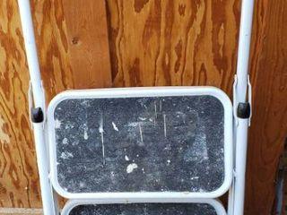 Metal Folding Step ladder   16 in  wide Treads