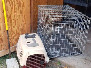 Wire Pet Kennel   21 x 32 x 24 in  Small Pet Taxi  Pooper Scooper and Rubber Bone