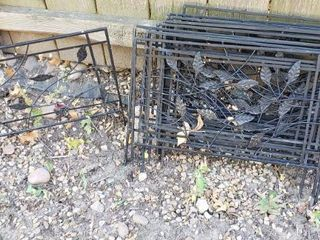 12 pieces of 24 x 14 in  Metal landscape Fence