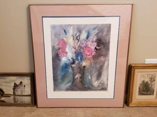 De Grazia Still life Numbered Print 1395 1500 and 2 other framed prints