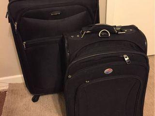Medium Samsonite Wheeled Suitcase   Small American Tourister Wheeled suitcase