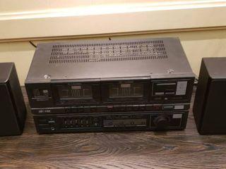 Pioneeer Stereo Double Cassette Tape Deck Amplifier DC 221Z w  speakers   works