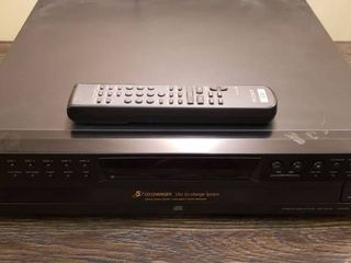 Sony 5 CD Changer Disc Ex change System w Remote   works