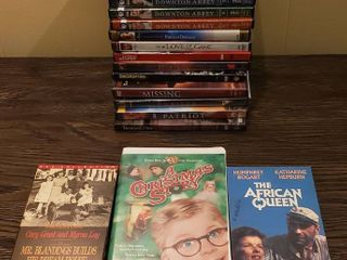 DVDs and VHS   checked