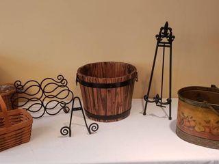 Home Decor   longaberger Basket Metal Wood Decor