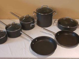 12 pc  Set of Calphalon Pots and Pans