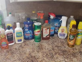 Cleaning Products   most are over Half Full