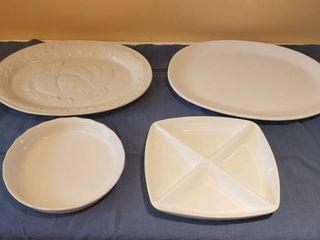 4 large Serving Platters