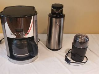 Krups Coffee Maker  Diamond Stainless Steel Hot Pot and Coffee Bean Spice Grinder