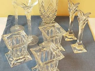 Crystal Candleholders and Vases