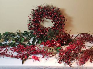 Holiday Decorating Wreath  Garlands and Greenery Sticks   tote included