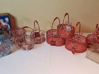 Holiday Organza Baskets and Tins   includes tote